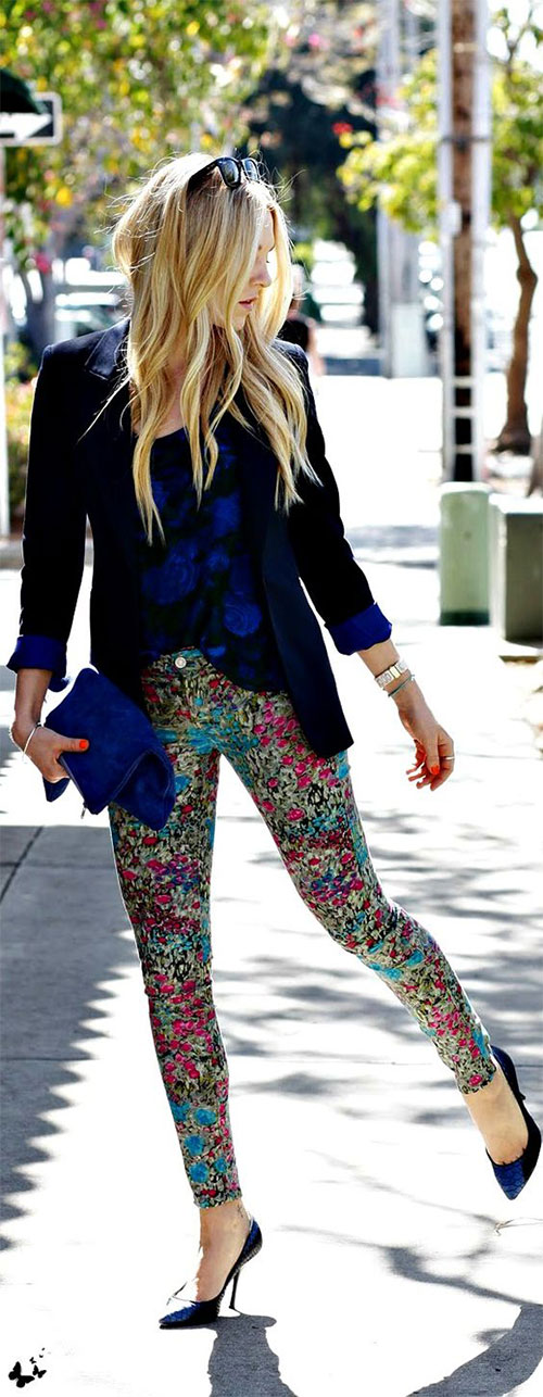 20-Pink-Black-Blue-Floral-Pants-Fashion-Ideas-2016-For-Girls-Women-16