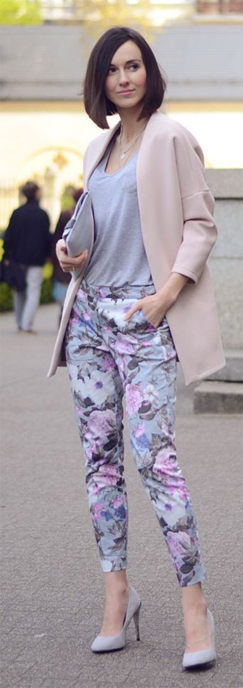 20-Pink-Black-Blue-Floral-Pants-Fashion-Ideas-2016-For-Girls-Women-17