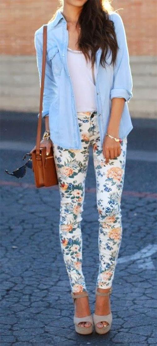 20-Pink-Black-Blue-Floral-Pants-Fashion-Ideas-2016-For-Girls-Women-19