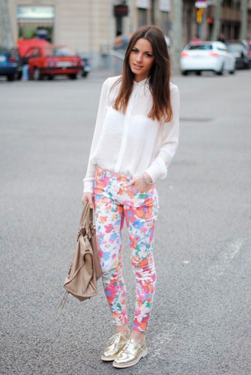 20-Pink-Black-Blue-Floral-Pants-Fashion-Ideas-2016-For-Girls-Women-2