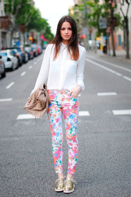 20-Pink-Black-Blue-Floral-Pants-Fashion-Ideas-2016-For-Girls-Women-4