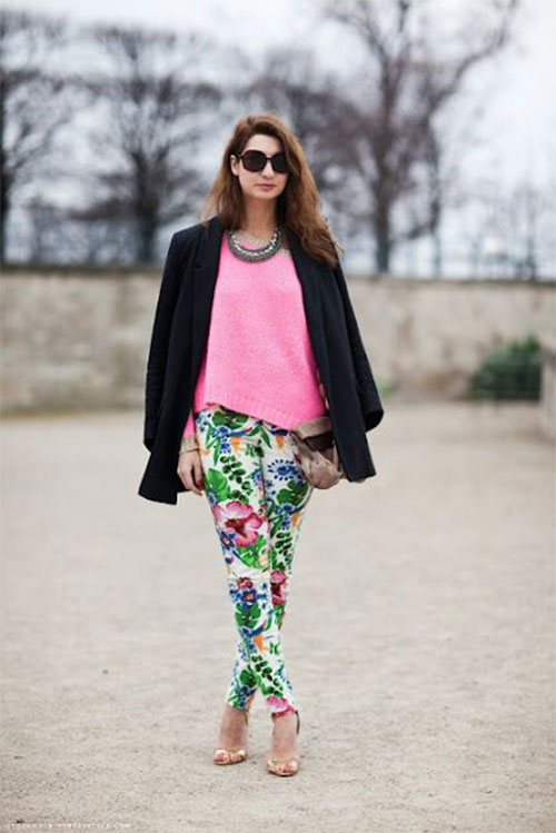 20-Pink-Black-Blue-Floral-Pants-Fashion-Ideas-2016-For-Girls-Women-5