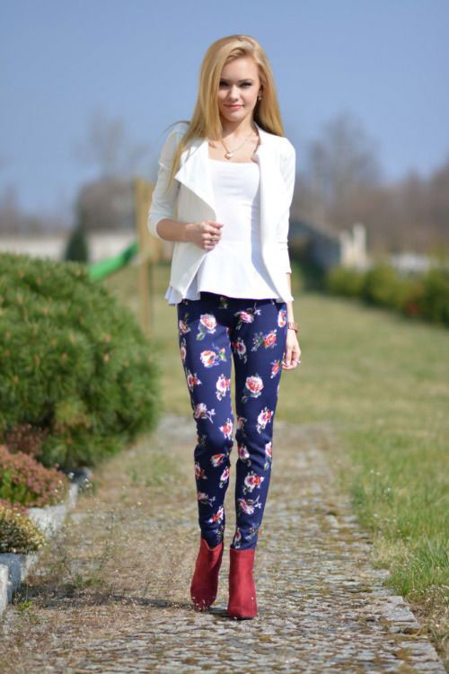 20-Pink-Black-Blue-Floral-Pants-Fashion-Ideas-2016-For-Girls-Women-6