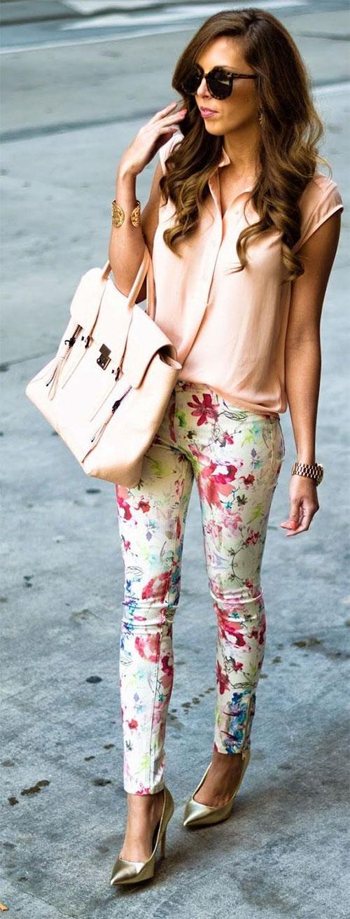 20-Pink-Black-Blue-Floral-Pants-Fashion-Ideas-2016-For-Girls-Women-7