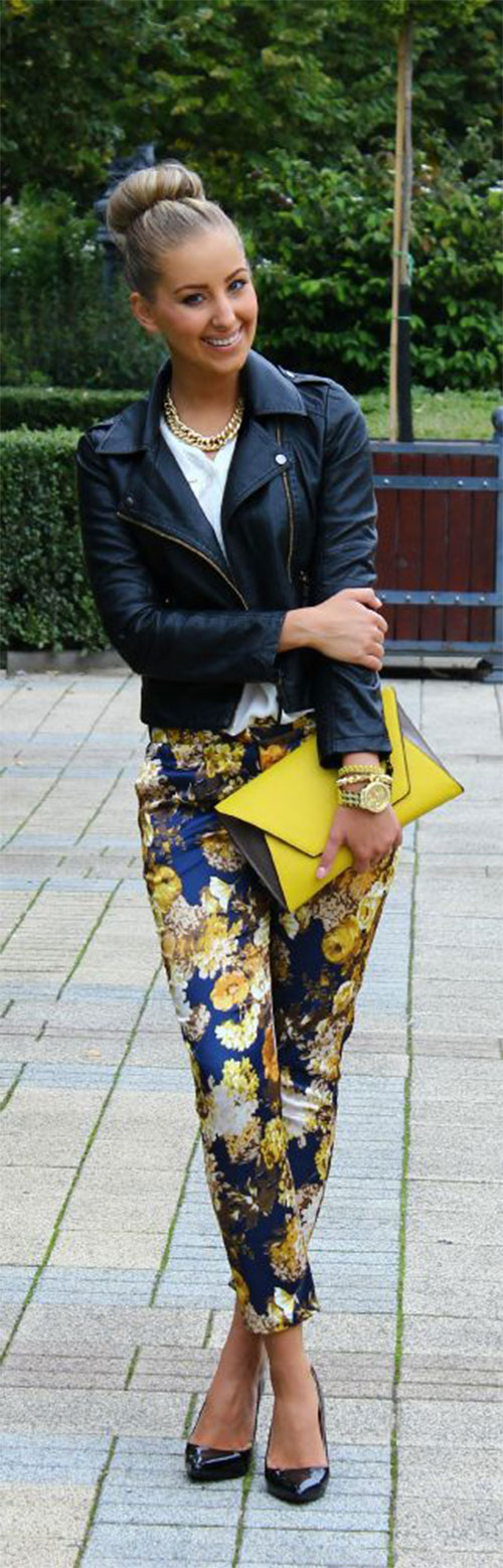 20-Pink-Black-Blue-Floral-Pants-Fashion-Ideas-2016-For-Girls-Women-8