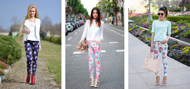 20-Pink-Black-Blue-Floral-Pants-Fashion-Ideas-2016-For-Girls-Women-F