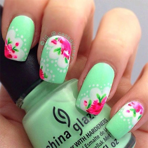 25+ Best Spring Nail Art Designs, Ideas & Stickers 2016