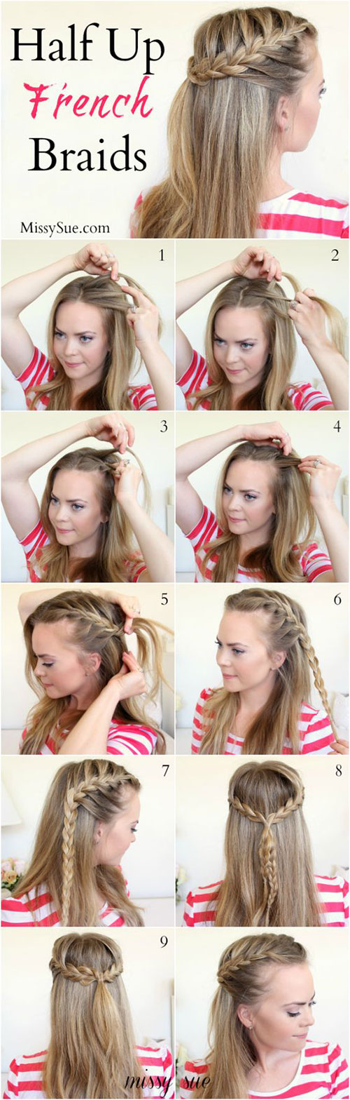 12 step by step spring hairstyle tutorials for learners