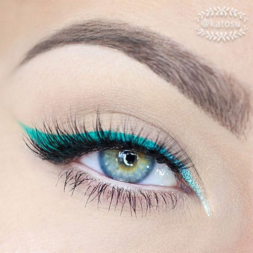 10-Green-Eyeliner-Looks-Ideas-2016-Eye-Liner-For-Green-Eyes-1