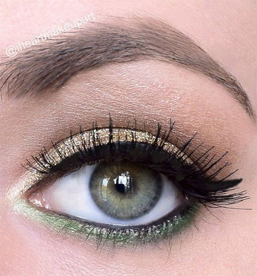10-Green-Eyeliner-Looks-Ideas-2016-Eye-Liner-For-Green-Eyes-10