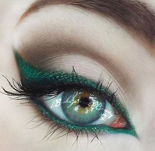 10-Green-Eyeliner-Looks-Ideas-2016-Eye-Liner-For-Green-Eyes-2