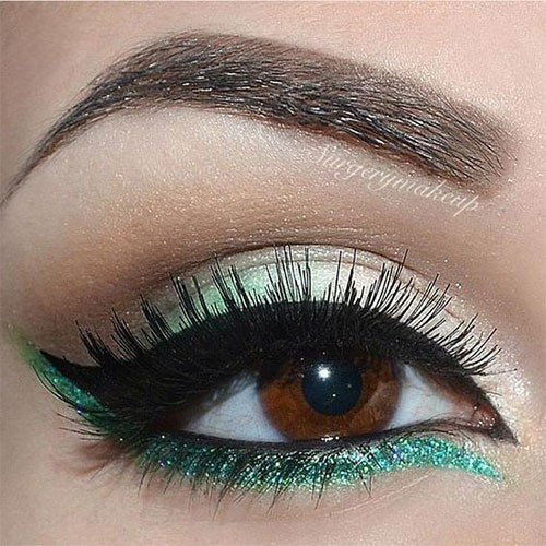 10-Green-Eyeliner-Looks-Ideas-2016-Eye-Liner-For-Green-Eyes-4