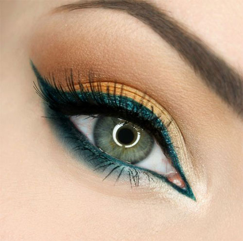 10-Green-Eyeliner-Looks-Ideas-2016-Eye-Liner-For-Green-Eyes-5