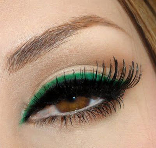10-Green-Eyeliner-Looks-Ideas-2016-Eye-Liner-For-Green-Eyes-9