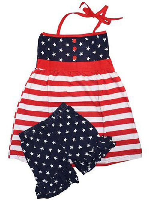 Patriotic 4th of July Clothing. Help your children celebrate the 4th of July with a patriotic outfit. Our red, white and blue designs are the perfect choice to wear to picnics, parades and other holiday events.