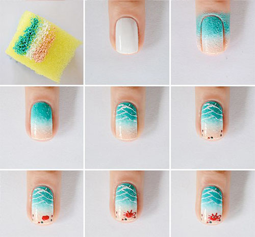 12-Easy-Summer-Nail-Art-Tutorials-For-Learners-2016-10