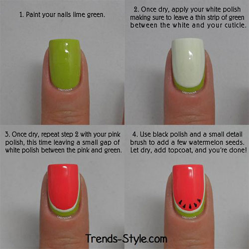 12-Easy-Summer-Nail-Art-Tutorials-For-Learners-2016-12