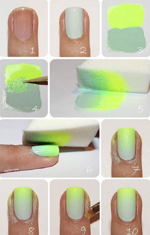 12-Easy-Summer-Nail-Art-Tutorials-For-Learners-2016-8
