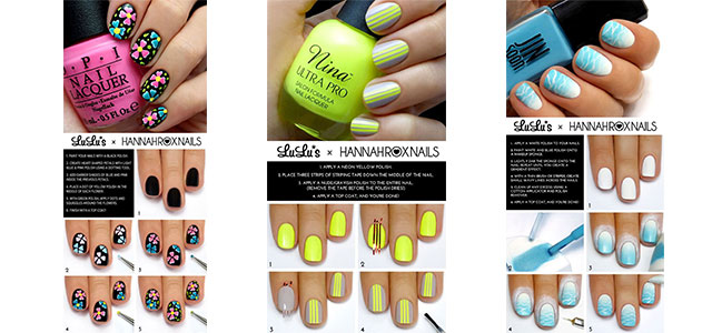 12-Easy-Summer-Nail-Art-Tutorials-For-Learners-2016-F