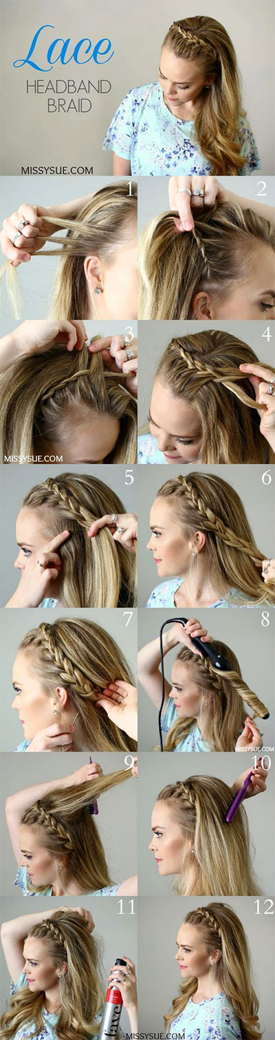 Brilliant 12 Step By Step Summer Hairstyle Braids Tutorials 2016 Modern Short Hairstyles Gunalazisus