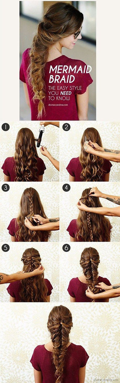 12 Step By Summer Hairstyle Braids Tutorials