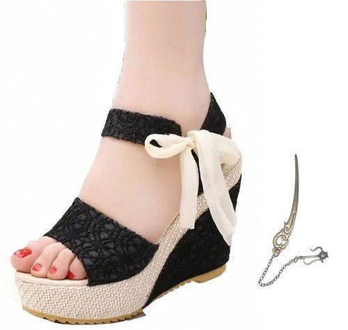 18 Cute Summer Beach Ribbon Flat Sandals For Girls