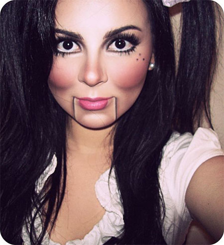 10 Simple &amp Easy Halloween Face Makeup Ideas For Girls - Very Easy Halloween Makeup