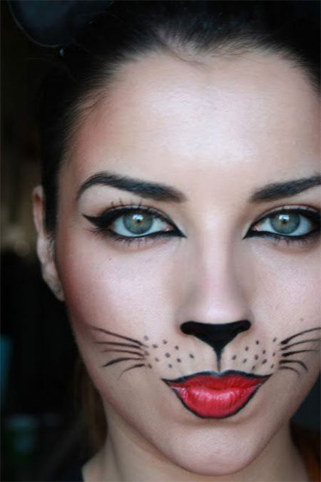 15 Best Halloween Cat Makeup Looks & Ideas 2016