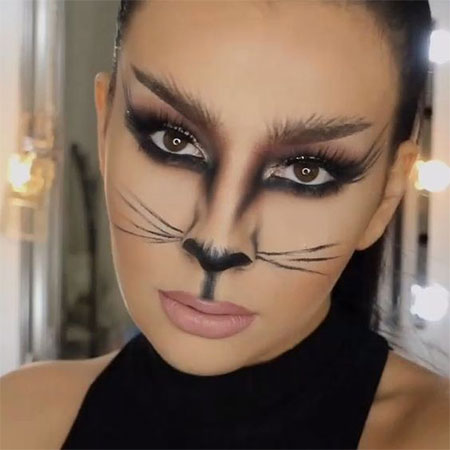 How to Do Halloween Cat Makeup