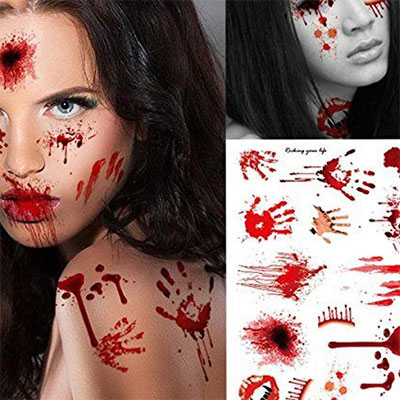 15-cool-small-fake-halloween-themed-tattoo-ideas-for-kids-women-2016-1