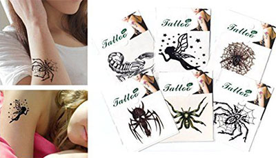 16 Cool Small &amp Fake Halloween Themed Tattoo Ideas For Kids Women