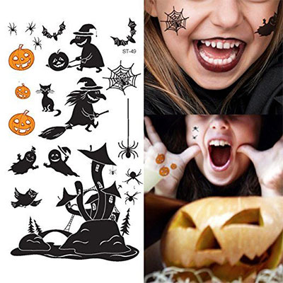 15 cool small fake halloween themed tattoo ideas for kids women 2016 modern fashion blog. Black Bedroom Furniture Sets. Home Design Ideas