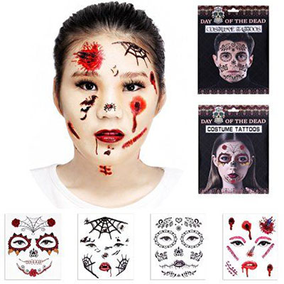 15-cool-small-fake-halloween-themed-tattoo-ideas-for-kids-women-2016-4