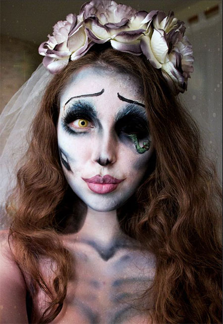 15+ Scary Corpse Bride Makeup Looks &amp Ideas For Halloween - Makeup Halloween 2016