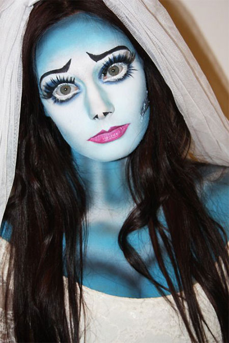 15+ Scary Corpse Bride Makeup Looks and Ideas For Halloween ...