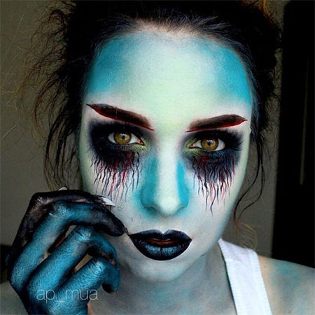 15+ Scary Corpse Bride Makeup Looks U0026 Ideas For Halloween 2016 | Modern Fashion Blog