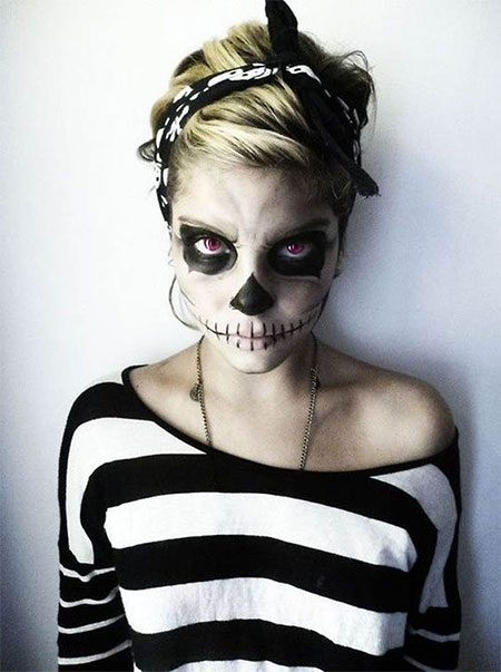 18 Scary Halloween Mouth, Teeth & Half Face Makeup Looks & Ideas ...