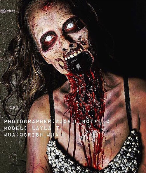 20+ Very Scary Halloween Zombie Face Makeup Ideas & Looks 2016 ...