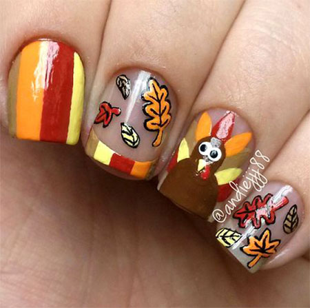 20 thanksgiving nail art designs ideas 2016 11 - Nail Art Designs Ideas
