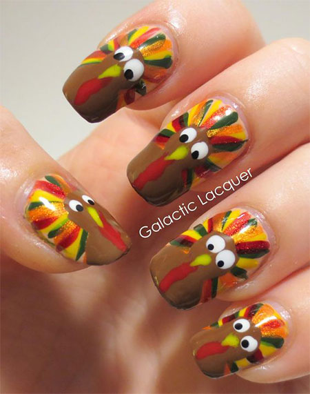 Art Designs: 20+ Thanksgiving Nail Art Designs & Ideas 2016
