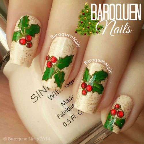 Christmas holly nail art gallery nail art and nail design ideas 20 best christmas nail art designs ideas 2016 xmas nails 20 best christmas nail art designs prinsesfo Gallery