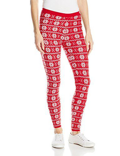 Knitted Christmas Leggings