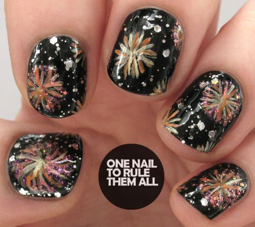15 Inspiring Happy New Year Eve Nail Art Designs Ideas 2016