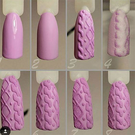 10 easy  simple winter nails art tutorials for beginners