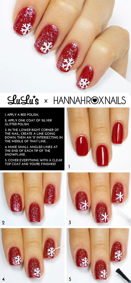 10-Easy-Simple-Winter-Nails-Art-Tutorials-For-Beginners-2017-7