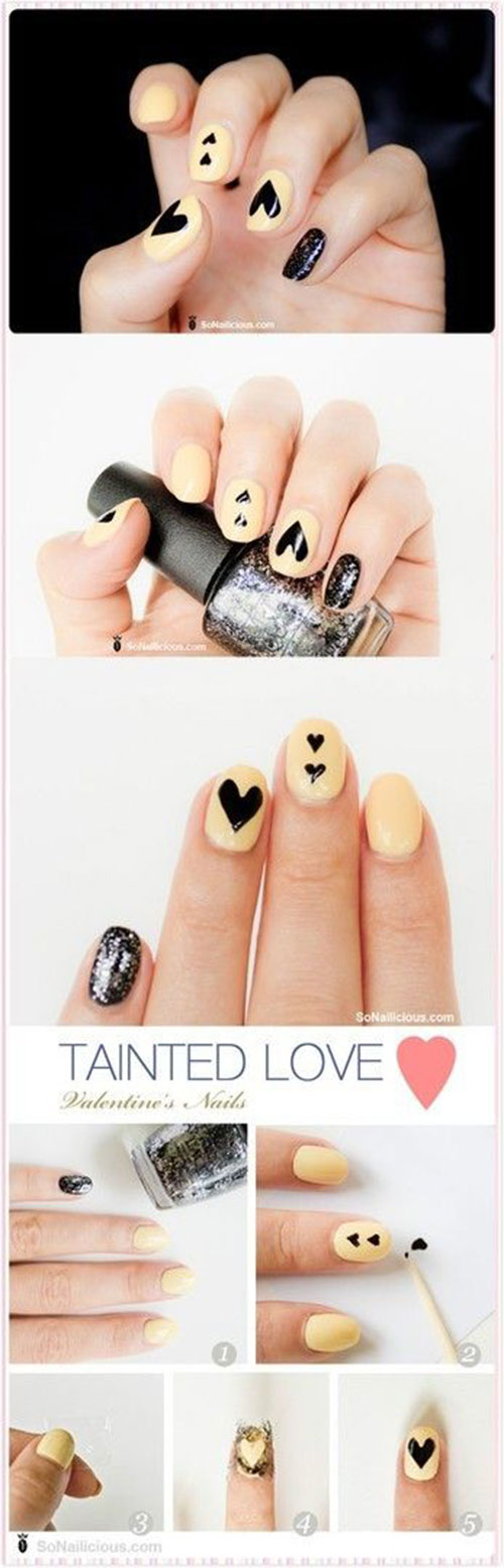 15 easy simple valentines day nails tutorials for beginners 15 easy simple valentines day nails tutorials for prinsesfo Choice Image