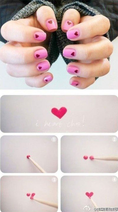 15-Easy-Simple-Valentines-Day-Nails-Tutorials-For-Beginners-2017-7