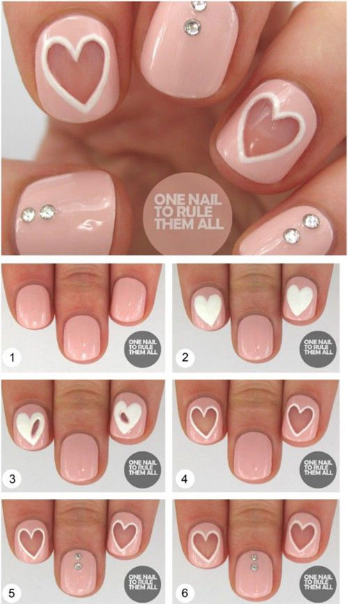 15-Easy-Simple-Valentines-Day-Nails-Tutorials-For-Beginners-2017-8