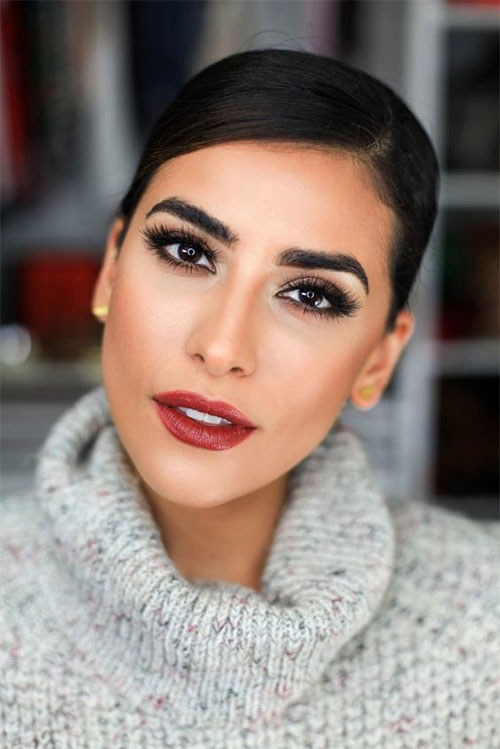 15-Winter-Themed-Face-Makeup-Looks-Ideas-2017-1