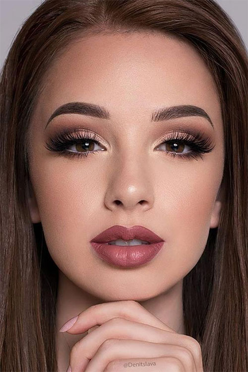 15+ Winter Themed Face Makeup Looks & Ideas 2017